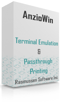 AnzioWin, terminal emulation and passthrough printing