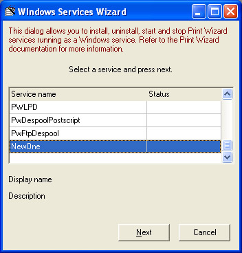 Windows Services for Print Wizard | Anzio com